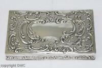Dose mit Verzierung in 800 er Silber 1900 Antik feuervergoldet Pillen