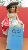 Ideal Deanna Durbin Doll 18 IN 1939 Composition Doll Celebrity Doll w/ Book