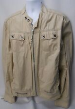 GUESS JEANS Men's Size XXL Cotton Jacket Vintage 1981 2006 Waist Coat Zip Sleeve