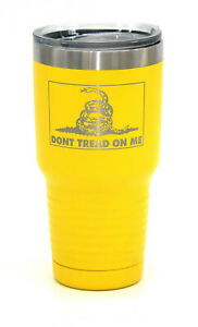 30oz Gadsden Flag Don't tread on me Insulated Stainless mug Cup Glass