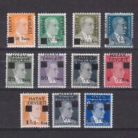 HATAY TURKEY 1939, Sc# 1-11, CV $56, MH
