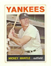 1964 TOPPS BASEBALL MICKEY MANTLE CARD #50 GOOD-VG+ (498A)