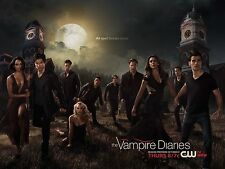 "The Vampire Diaries TV Series 2014 Art Deco Silk Wall Poster 12x18"" TVD3"