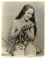 DOROTHY LAMOUR (1927) Vntg orig gelatin silver print w/baby croc JUNGLE PRINCESS