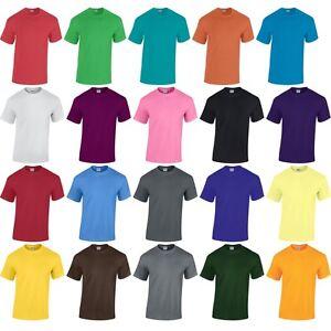 Mens Adult Gildan Heavy Cotton Jersey Knit Plain Colour Short Sleeve T Shirt Top