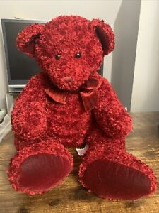 """RUSS BEARS FROM THE PAST Rosetta 20"""" w/Tags ~ Russell Berrie ~ RED TEDDY 4919"""
