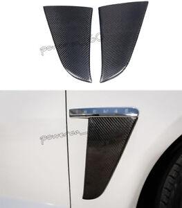 For Jaguar XF Carbon Fiber Side Fender Leaf Plate Air Vents Light Trim 2012-2015
