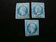 FRANCE - timbre yvert et tellier n° 14A x3 obl (A15) stamp french (E)
