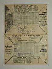 1933 Am. Assoc Scorecard St. Paul Milwaukee Lexington Park