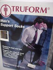 Truform 1943, Men's Socks, Knee High, Dress Style Small Black