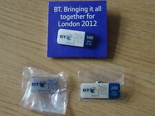 London 2012 Olympics BT pins x 3
