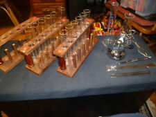 Lot of glass test tubes & stands & other lab equipment (Pyrex)