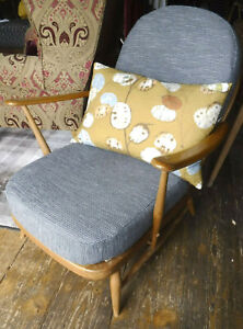 ERCOL 203 ARMCHAIR - BLONDE FINISH- NEW COVERS - ASSIST COURIER