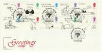 26 FEBRUARY 1996 GREETINGS COTSWOLD UNADDRESSED FIRST DAY COVER PURLEY SHS