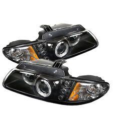 Dodge 96-00 Caravan Voyager Grand Voyager Halo Black LED Projector Headlights