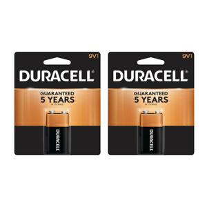 Pack of 2 Duracell 9V Coppertop Alkaline Battery