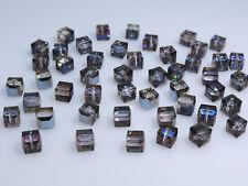 SWAROVSKI® Crystal Cubes,Art.#5601 6mm,Twenty(20) BERMUDA BLUE 6mm Square Beads