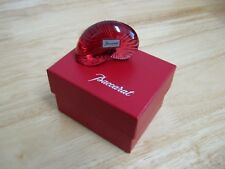 Figurine by Baccarat - French Crystal - Nautilus Shell - Red - NIB