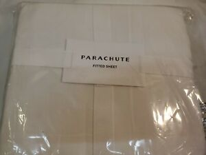 Parachute Fitted Sheet Satin in White Cal-king