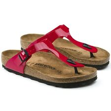 BIRKENSTOCK GIZEH TANGO RED PATENT WOMEN'S SANDALS THONGS 743191