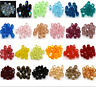 Free shipping 100-1000pcs Crystal 4mm Bicone Spacer Loose Beads YOU Pick color