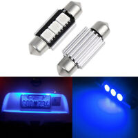 KFZ LED Soffitte Canbus blau Innenraumbeleuchtung Licht Lampe 8000K 2X36mm 3 SMD