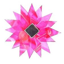 ROSE PINK HANGING GLASS MANDALA STAR POINTS SUNCATCHER MOBILE MIRRORED RECYCLED
