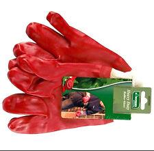 Gardening DIY Builders Work Heavy Duty DIY Grip Rubber WaterProof Gloves M