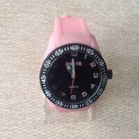 Ladies Girls Fashion Quartz Wrist Watch with Pink Silicone Strap