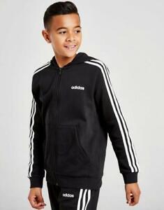 New adidas Boys' Core 3-Stripes Fleece Hoodie