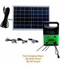 10W Portable Power Generator 6W Solar panel System Kit3 Led Lamps with Control