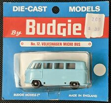 BUDGIE no. 12 LIGHT BLUE VOLKSWAGEN MICRO BUS ON CARD