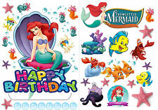 Edible Disney Princess Ariel Little Mermaid Wafer Standup Birthday Cake Toppers
