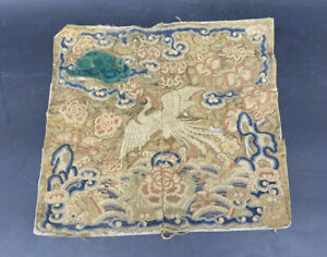 Beautiful Early 19th Century Chinese Civil Rank Badge Peking Knot Qing