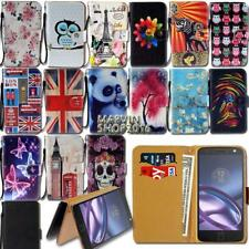 Leather Wallet Card Stand Flip Case Cover For Motorola One/P30/Moto Z3 E5 Phones