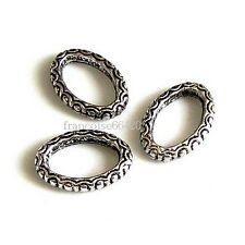 5 Connecteurs entre-deux Anneau ovale 17x12x3mm Perles apprêts créati bijou A344