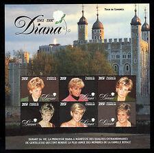 Princess Diana's Death - Congo Sc #1139 Large Mint Sheet of 6, 205Fr MNH