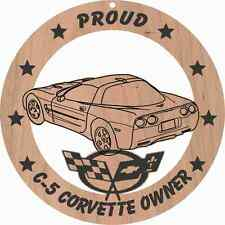 Corvette C5 Coupe (rear  3/4 view)  Wood Ornament Engraved