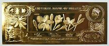 $10 Frangipani- The First Gold Bank Notes of Belize w/ Presentation Card