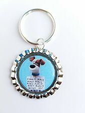 "THE SECRET LIFE OF PETS "" Max Missed You"" Bottle Cap with Keyring"