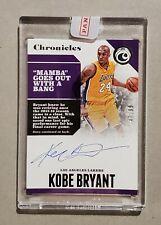 2017-18 Panini Chronicles Kobe Bryant #CA-KBR Retirement Auto /99