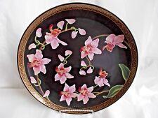 Graceful Orchid 1988 Franklin Mint Charger Makoto Miyagi