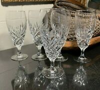 """5 Waterford Crystal 7 5/8"""" Merano Iced Tea Glasses - Excellent"""
