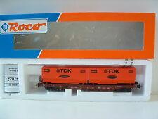 """ROCO H0 47022 Einheitstaschenwagen DB """"TDK"""" Wechselpritschen OVP M365"""