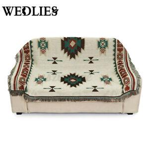 Home Decor Aztec Navajo Towel Mat Wall Hanging Cotton Sofa Throw Rug Geometry UK