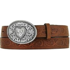 Justin Girls Aged Bark Western Scroll Trophy Belt 815Bd
