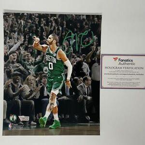 Autographed/Signed JAYSON TATUM Boston Celtics 8x10 Photo Fanatics COA Auto #4