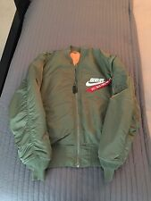 NWT Alpha Industries x Nike Anarchy Tokyo Military Green Bomber Jacket Sz Large