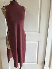 Groceries Apparel Women's Dress Organic Cotton Tunic Red High Side Slits Size Xs