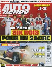 AUTO HEBDO n°1848 14/03/2012 WRC MEXIQUE MINI COUNTRYMAN WRC RED BULL RB8